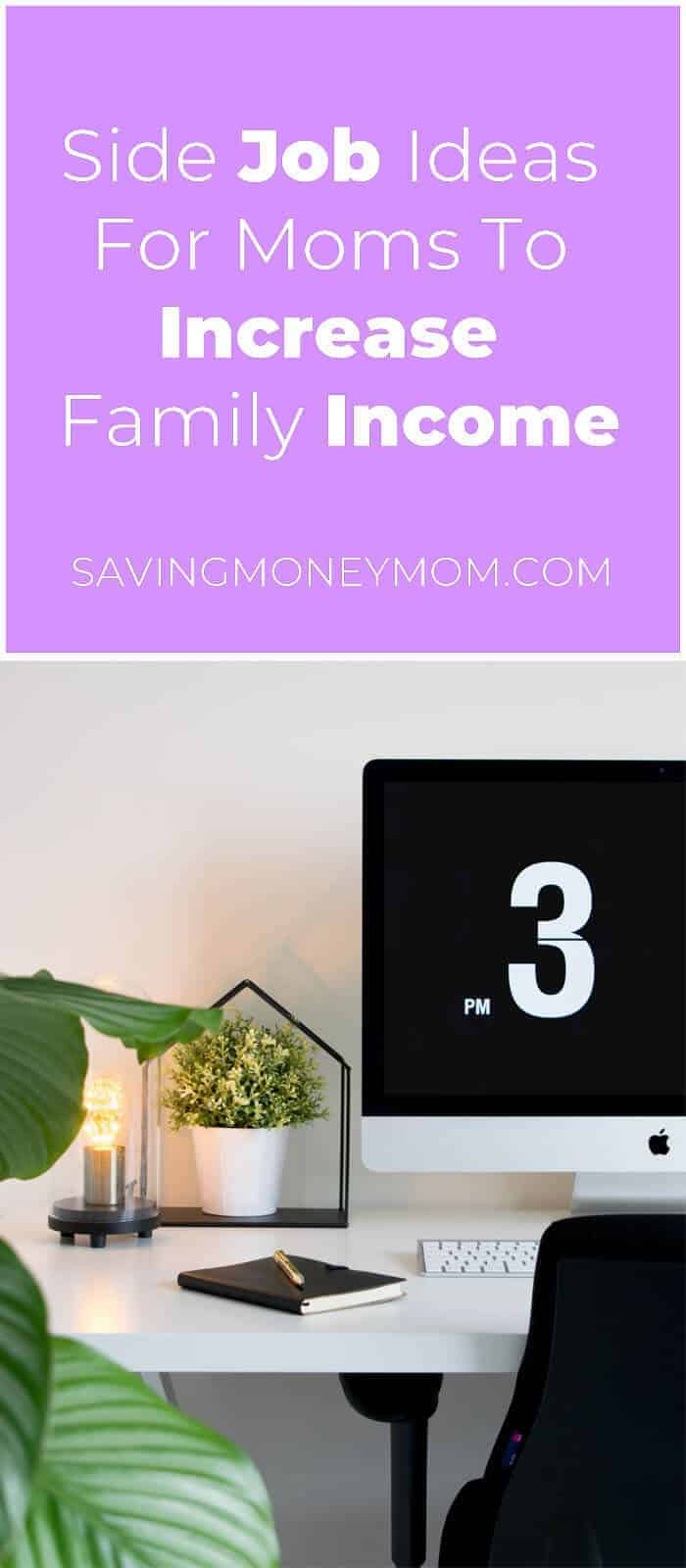 Side job ideas moms can take on to increase family income