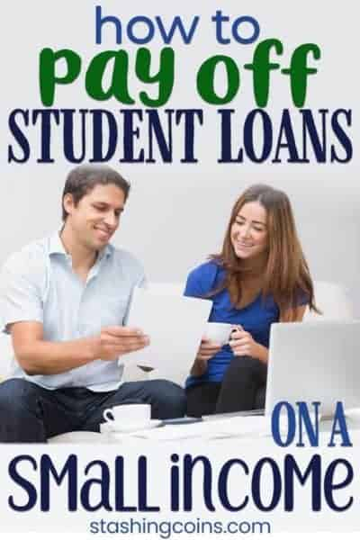 How to pay off student debts on a small income.