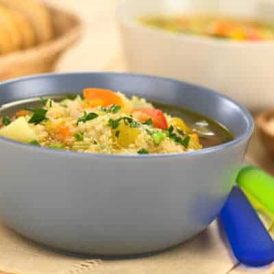 Budget friendly quinoa & kale soup