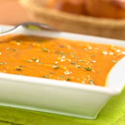 Quick affordable sweet potato soup