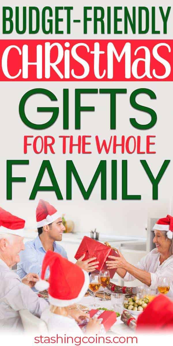 Inexpensive Christmas gift ideas for the whole family