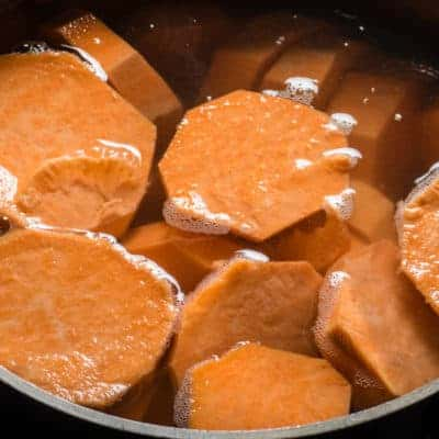 Sweet potatoes for making soup