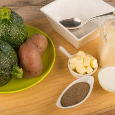 Zucchini soup ingredients