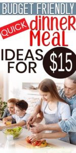 Inexpensive family dinner ideas for week nights