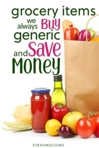 How generic groceries save you money