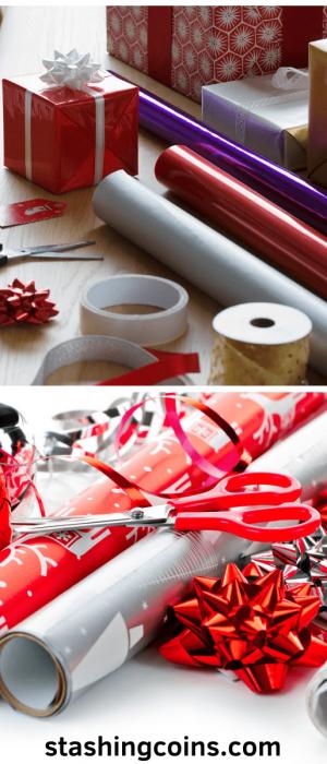 Wrapping presents as an extra side job this Christmas season