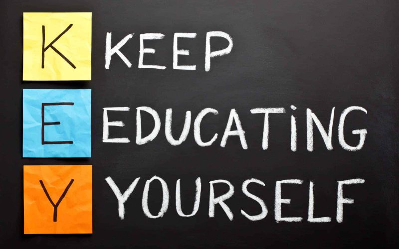 Educating yourself improves the quality of your life