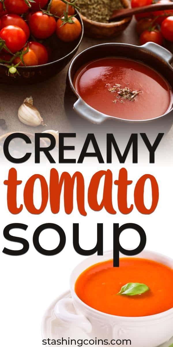 Quick budget creamy tomato soup