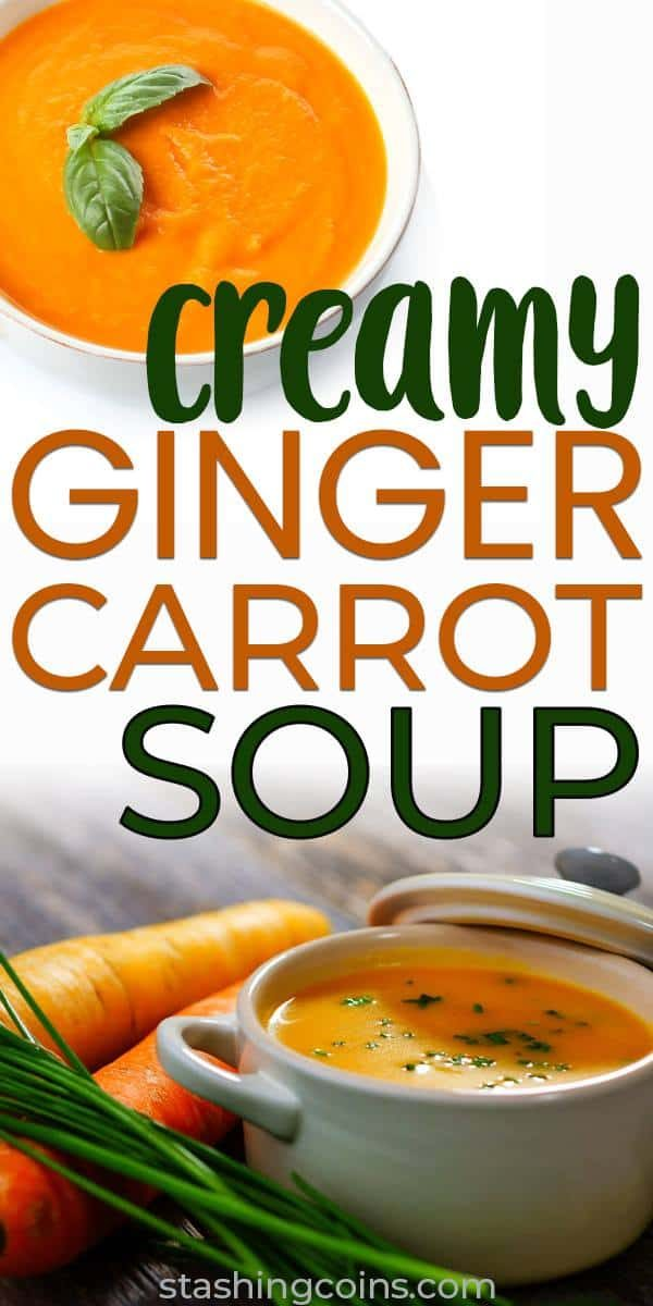 Affordable creamy ginger carrot soup for cold nights