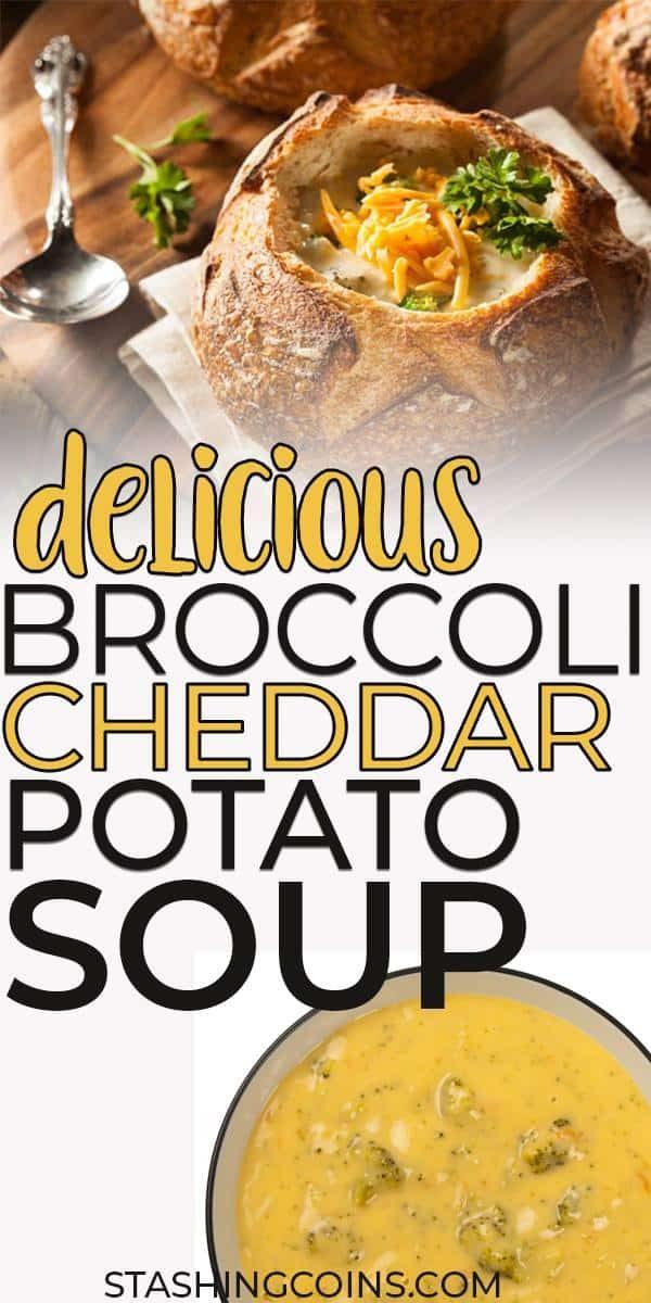 Quick delicious broccoli cheddar potato soup